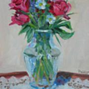 3 Roses Art Print