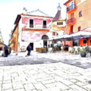 San Felice Circeo Square Art Print