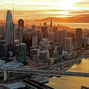San Francisco Financial District Skyline Art Print