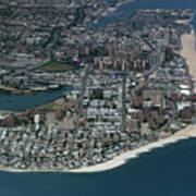 Seagate And Brighton Beach In Brooklyn Aerial Photo Art Print