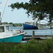3 Shrimp Boat At Billys Art Print