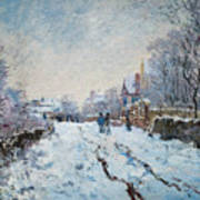 Snow Scene At Argenteuil Art Print
