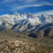 Snowy Four Peaks Arizona Art Print