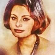 Sophia Loren, Vintage Hollywood Actress Art Print