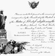 Statue Of Liberty, 1886 Art Print