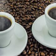 Steaming Coffee  Art Print