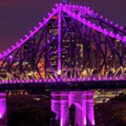 Story Bridge In Brisbane, Queensland Art Print