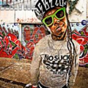 Street Phenomenon Lil Wayne Art Print by The DigArtisT