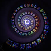 Spiral Stained Glass Art Print