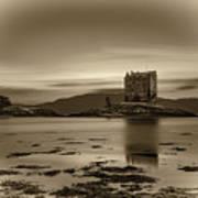 Sunset Over Castle Stalker,  Scotland, United Kingdom Art Print