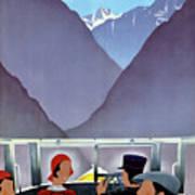 Switzerland Vintage Travel Poster Restored Art Print