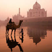 Taj Mahal At Dawn Art Print