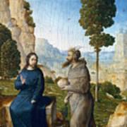 Temptation Of Christ Art Print