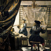 The Artist's Studio Art Print by Jan Vermeer