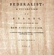The Federalist, 1788 Art Print