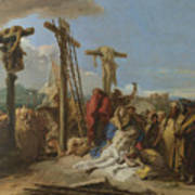 The Lamentation At The Foot Of The Cross Art Print