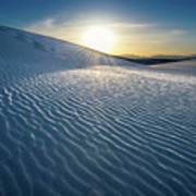 The Unique And Beautiful White Sands National Monument In New Mexico. Art Print
