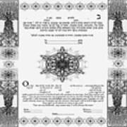 tree of life ketubah-Reformed and Interfaith version Art Print