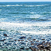 Usa California Pacific Ocean Coast Shoreline Art Print