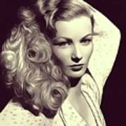 Veronica Lake, Vintage Actress Art Print
