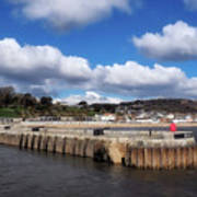 View From The Cobb - Lyme Regis Art Print