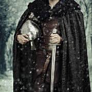 Viking Warrior With Sword Art Print