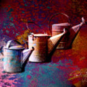 3 Watering Cans No.1 Art Print