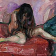 Weeping Nude Art Print