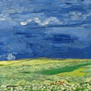 Wheat Field Under Thunderclouds Art Print