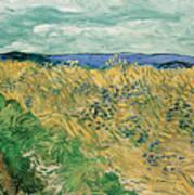 Wheat Field With Cornflowers Art Print