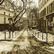 Winter In Paris Art Print