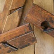 3 Wood Planes Art Print