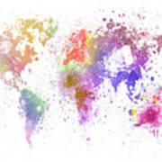 World Map Painting Art Print