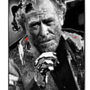 Writer Charles Bukowski On Tv Show Apostrophes September 1978-2013 Art Print