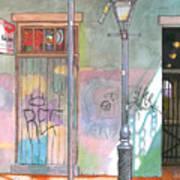 30  French Quarter Graffiti  Art Print