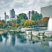 Charlotte North Carolina Cityscape During Autumn Season Art Print