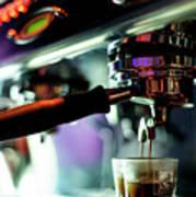 Making Espresso Coffee Close Up Detail With Modern Machine Art Print