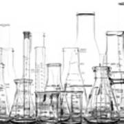 Laboratory Equipment In Science Research Lab Art Print