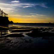 Sunset Bay Beach Art Print