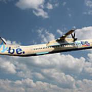 Flybe Bombardier Dash 8 Q400 Art Print