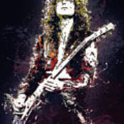 Jimmy Page. Led Zeppelin. Art Print