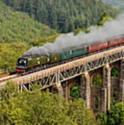 34067 Tangmere Crossing St Pinnock Viaduct. Art Print