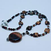 3516 Tiger Eye Necklace  Art Print