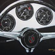 356 Porsche Dash Art Print