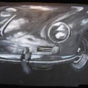 356 Porsche Front Art Print