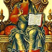 Jesus Christ God  Art Print