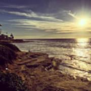 Sunset On La Jolla Beach, California, Usa  Art Print