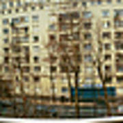 360 Panoramic Photograph Of Paris Art Print
