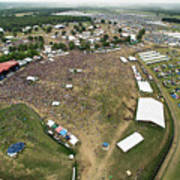 Bonnaroo Music Festival Aerial Photography Art Print