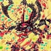 3d Color Dragon Art Print